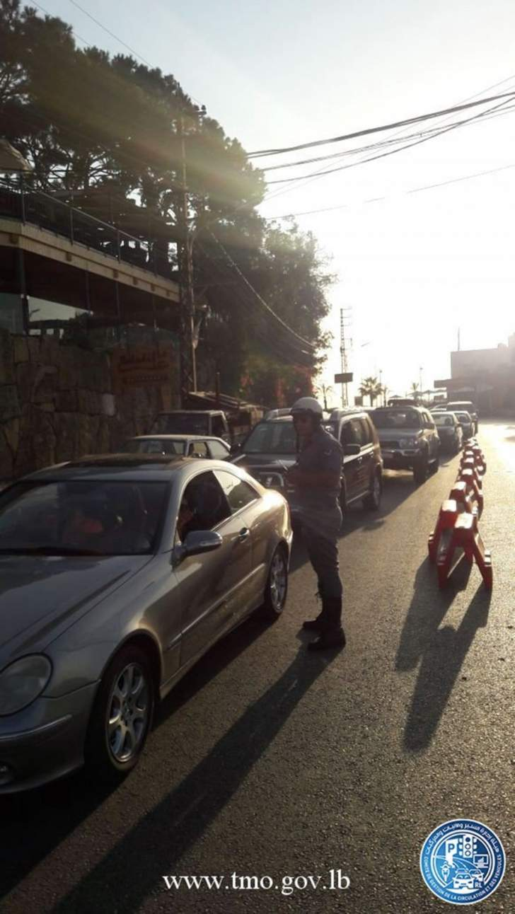 التحكم المروري: حركة المرور كثيفة عند مستديرة جعيتا بسبب أشغال