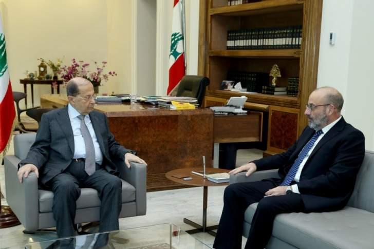 الرئيس عون استقبل وزير الدفاع يعقوب الصراف