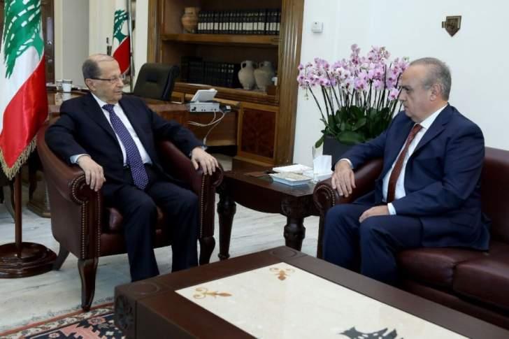 الرئيس عون يلتقي رئيس حزب التوحيد العربي وئام وهاب