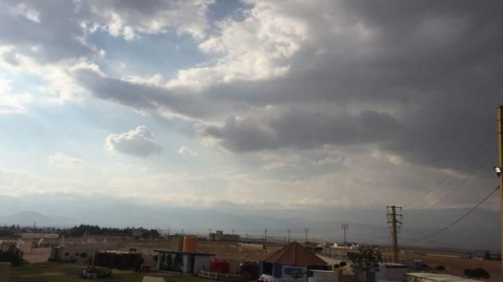 النشرة: الطقس في بعلبك الهرمل غائم وأمطار خفيفة في بعض القرى