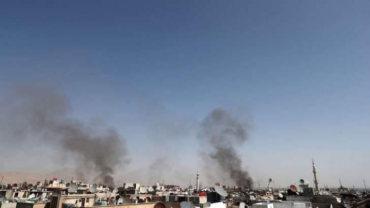 إصابة 4 أطفال اثر سقوط قذيفتين على ضاحية حرستا السكنية بريف دمشق