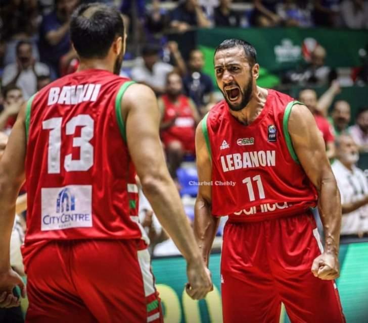 تقدم منتخب لبنان على كازاخستان بنتيجة 33-23 في بطولة آسيا لكرة السلة