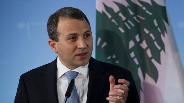باسيل:على البلديات مسؤولية لحماية اللبنانيين بموضوع النزوح السوري