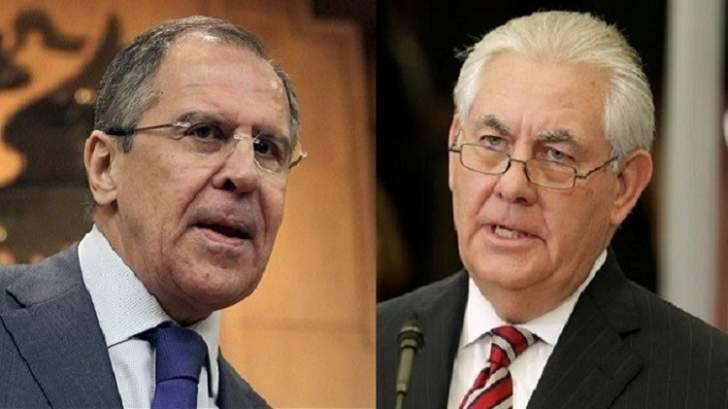 لافروف يبحث مع تيلرسون هاتفيا الوضع حول البرنامج النووي الإيراني