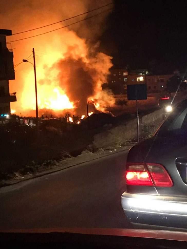 احراق منزل في بلدة مشحا العكارية جراء احتكاك كهربائي