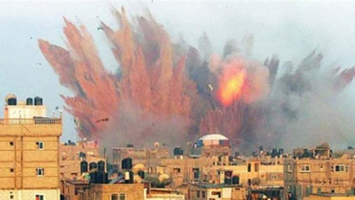 التحالف العربي يقصف معسكر ألوية الصواريخ في صنعاء باليمن