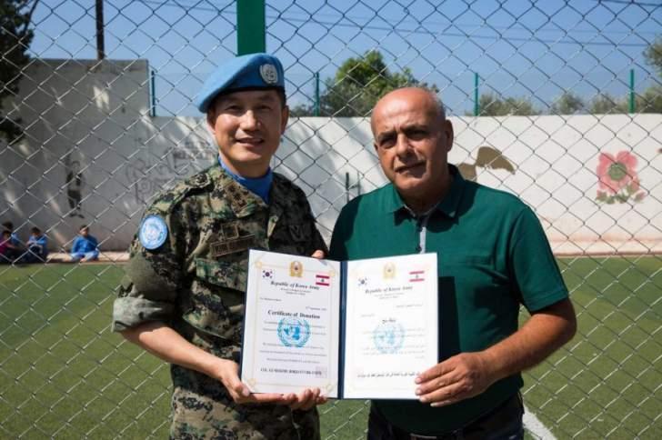 الكتيبة الكورية العاملة ضمن اليونيفيل تقيم حفل افتتاح في مدرسة المنصورة