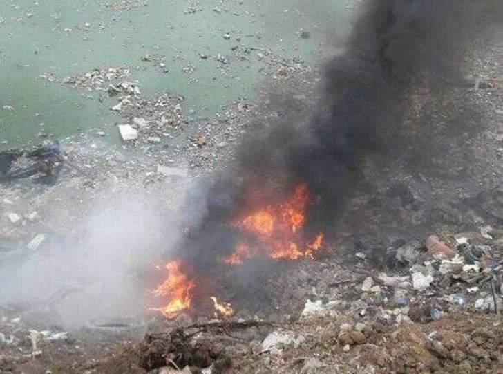 النشرة: إخماد حريق في ردميات بحيرة النفايات في صيدا
