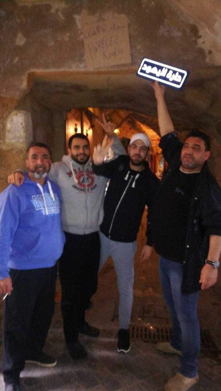 النشرة: شباب صيدا القديمة يستبدلون اسم حارة اليهود بحارة القدس