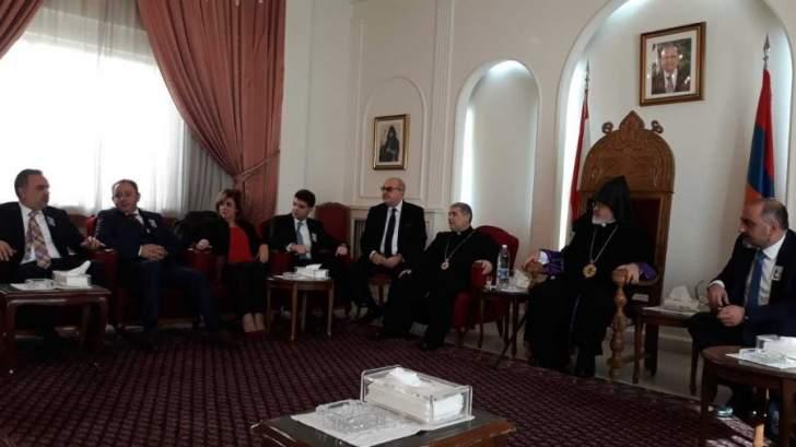قداس وإستقبال المهنئين بمناسبة عيد الميلاد لدى الطائفة الأرمنية ألارثوذكسية