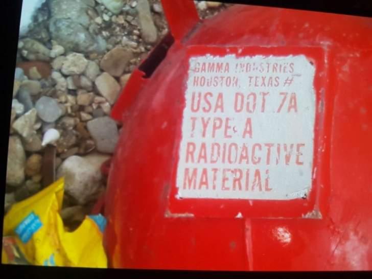 مدير عام الطاقة الذرية أبلغ الخطيب أنه تم عزل قارورة الغاز عن المحيط