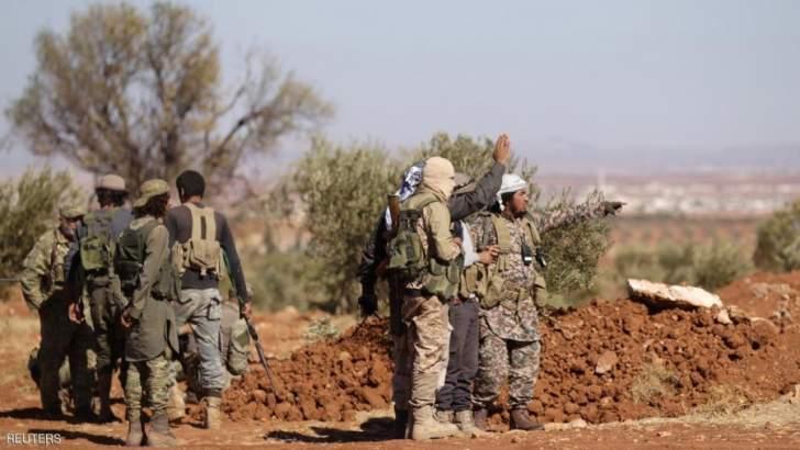 اصابة مديين باشتباكات بين جبهة تحرير سوريا وهيئة تحرير الشام بريف حلب الغربي