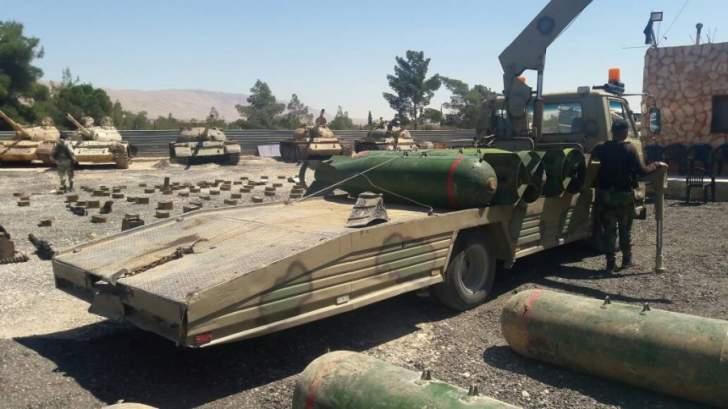 النشرة: الجيش السوري عثر على اليات عسكرية وذخائر في جبال القلمون
