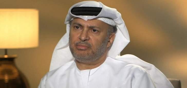 قرقاش: قطر تحرق الجسور في الأزمة وشتاؤها المظلم سيطول