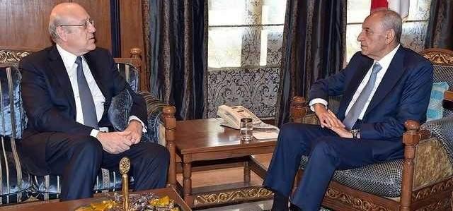 بري يستقبل ميقاتي والعريضي والسفير الإيراني في لبنان