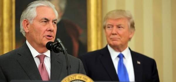 ترامب أقال وزير الخارجية ريكس تيلرسون وعين مدير المخابرات خلفا له