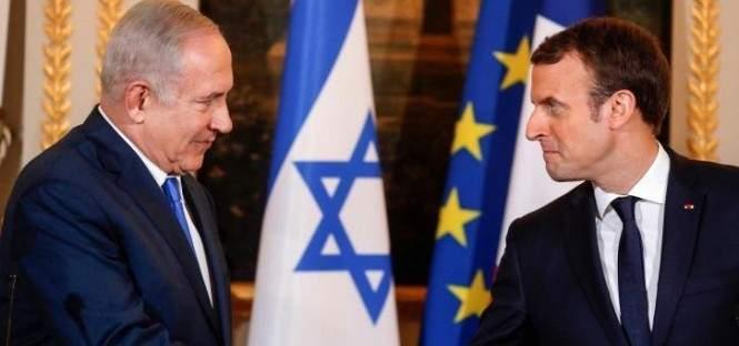 نتانياهو حث ماكرون على تعديل الإتفاق النووي وإدانة جرائم نظام إيران