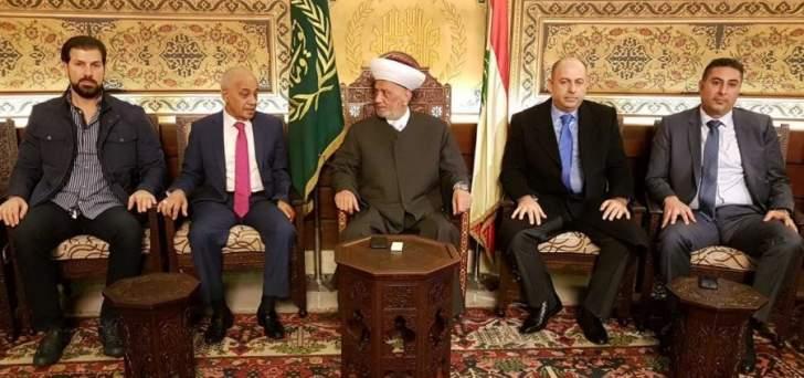 دريان التقى وفدا من غرفة التجارة والصناعة وجمعية تجار طرابلس