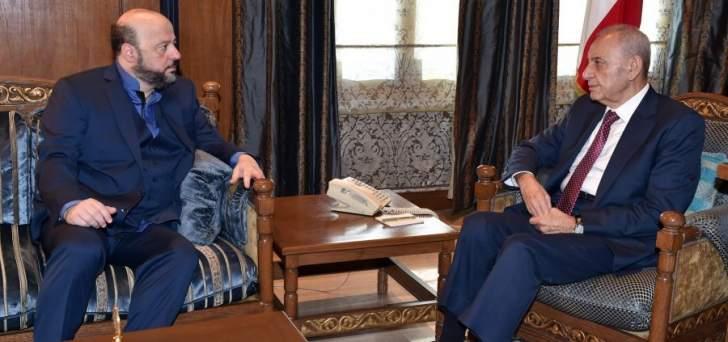 الرياشي بعد لقائه بري:بحثنا بموضوع الإنتخابات وما يحصل بمستوى التحالفات