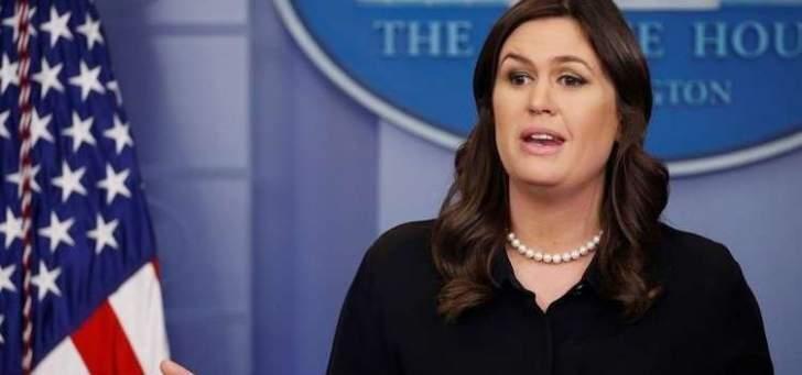 المتحدثة باسم البيت الأبيض تنفي ما تردد عن اعتزامها الاستقالة من منصبها