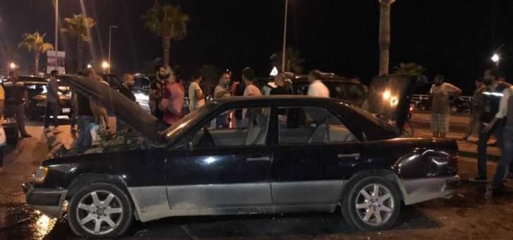النشرة: جريحان في حادث سير قرب الملعب البلدي عند مدخل صيدا الشمالي