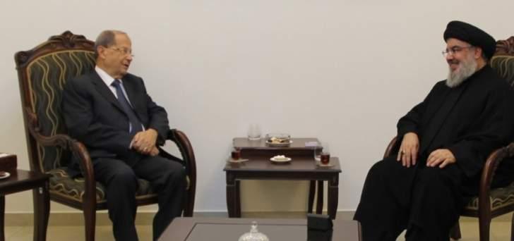حزب الله جدد التازمه بتفاهم مارمخايل واكد السير به وصولا لتحقيق الأهداف