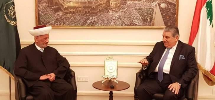 مطرجي من دار الفتوى: لم اتخذ قرارا بالترشح او عدمه في الانتخابات