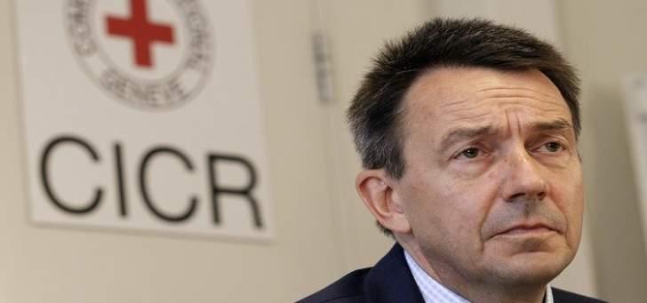 رئيس الصليب الأحمر الدولي:ليبيا يوجد فيها أعلى نسبة نزوح داخلي بالمنطقة