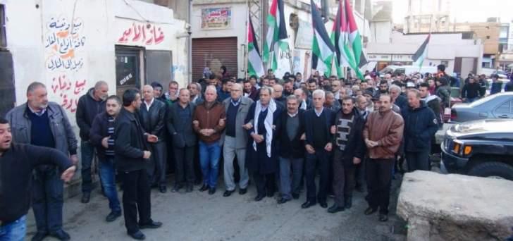 مسيرة للفصائل الفلسطينية في مخيم الجليل ببعلبك استنكارا لقرار ترامب