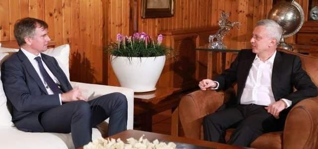 سليمان فرنجيه إلتقى شورتر في زيارة وداعية