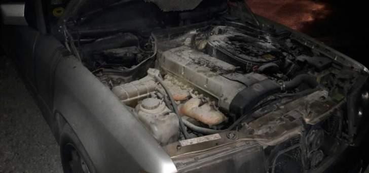 الدفاع المدني: إخماد حريق داخل سيارة في دده - الكورة والأضرار مادية