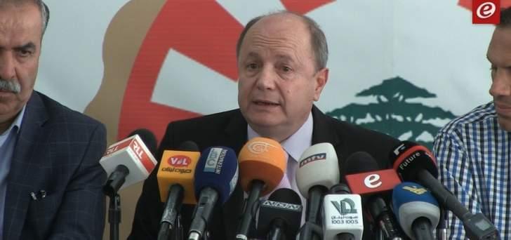 الاسمر: نناشد وزير الأشغال اتخاذ القرار الصائب بخصوص نادي الغولف