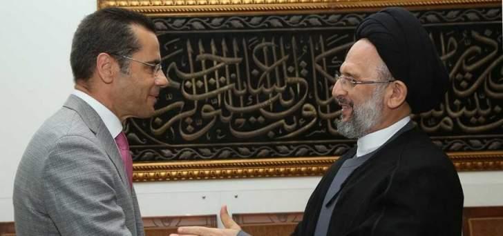 السيد علي فضل الله استقبل فادي علامة: البلد بحاجة لطاقات ووجوه شبابية