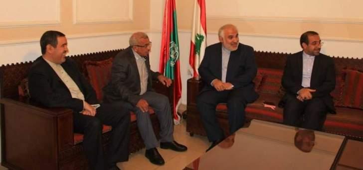 أسامة سعد يستقبل سفير إيران في لبنان في زيارة وداعية