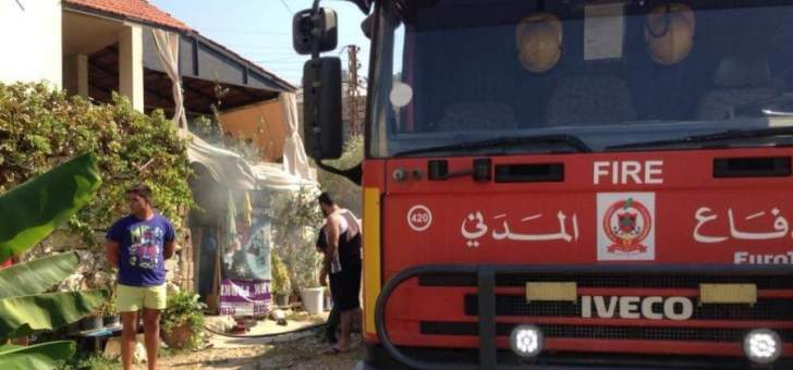 إخماد حريق داخل غرفة للعمال السوريين في البوار / كسروان