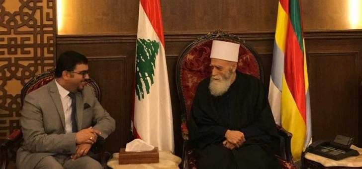 الشيخ حسن التقى خالد شوكت وبحث معه مختلف التطورات