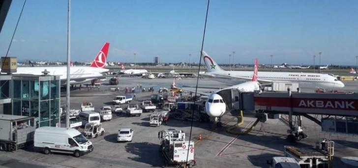 إصطدام طائرة مغربية بأخرى تركية في مطار أتاتورك