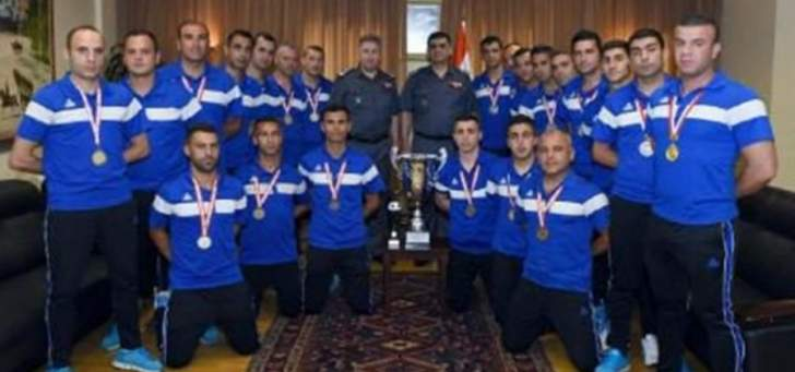 عثمان استقبل فريق كرة القدم بقوى الأمن الفائز بكأس لبنان لكرة القدم المصغرة
