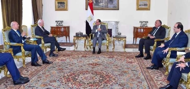 السيسي بحث مع دي ميستورا مساعي الوصول لتسوية سياسية للأزمة السورية