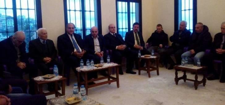 جولات انتخابية للوزير طارق الخطيب في اقليم الخروب