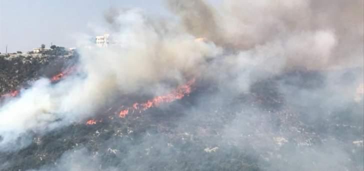الدفاع المدني:إخماد حريق حرج من الصنوبر في اجدبرا-البترون بعد جهود لساعات
