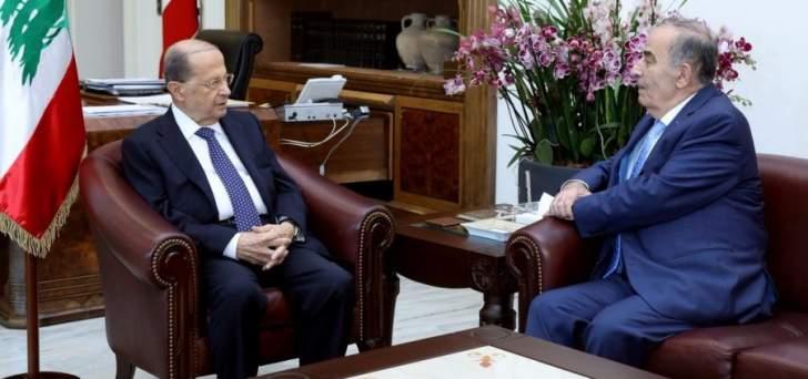 قانصو التقى الرئيس عون: الإستقرار السياسي في البلاد يجب أن يكون أولوية