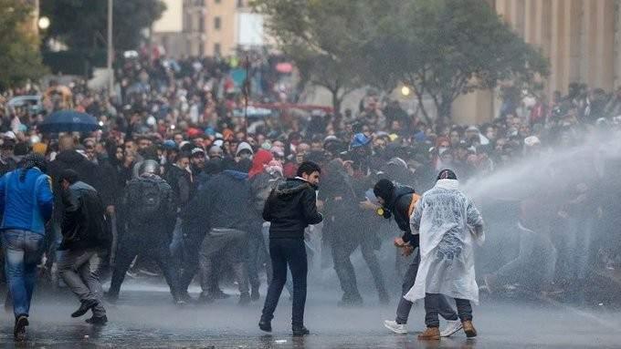 احتجاجات وسط بيروت