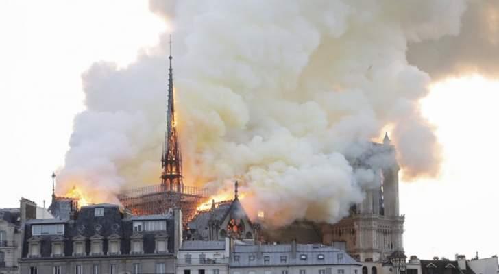 حريق في كاتدرائية نوتردام في باريس
