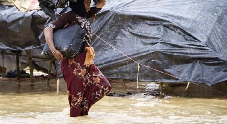 الأمم المتحدة: نزوح أكثر من 14 ألف شخص جراء الرياح والفيضانات ببنغلادش