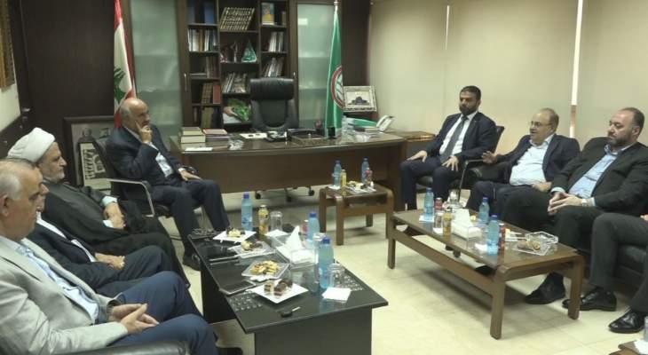 المكتب السياسي لحركة أمل يستقبل وفداً من الحزب الديمقراطي اللبناني