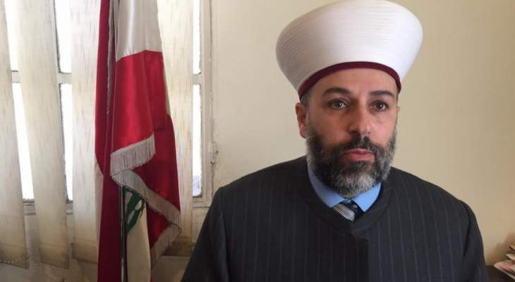الشيخ الرفاعي يتهم بعض الاجهزة الامنية بأنها تتغافل عما يحدث بشكل مقصود في بعلبك