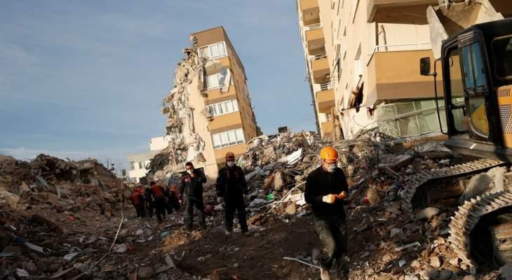 إدارة الكوارث التركية: ارتفاع حصيلة ضحايا الزلزال الذي ضرب إزمير إلى 115 قتيلا