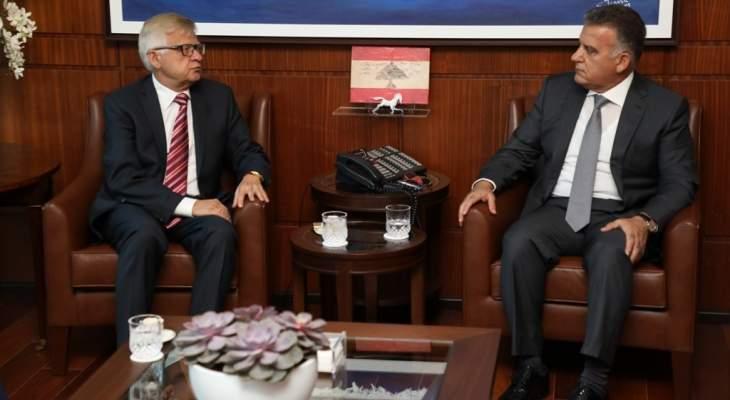 اللواء ابراهيم إلتقى سفيري روسيا والهند