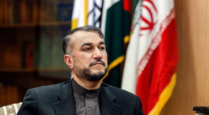 عبداللهيان أكد السياسة الخارجية المتوازنة والدبلوماسية النشطة والذكية للحكومة الإيرانية